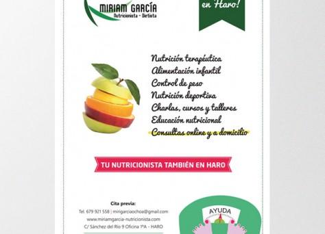 cartel nutricionista dietista cita previa direccion manzana dieta