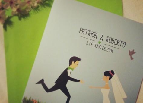 Invitaciones boda ilustracion personalizada originales, invitaciones logroño, invitaciones dibujo ilustración